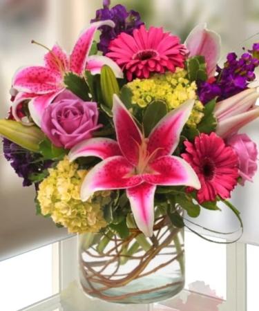 Just Spring Round Vase Arrangement