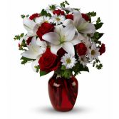 Just to Say I Love You Red Vase