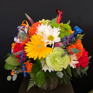 Just want to Celebrate  Bubble bowl in Chesterfield, MO | ZENGEL FLOWERS AND GIFTS