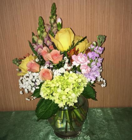Justina's Pastels Clear Glass Vase