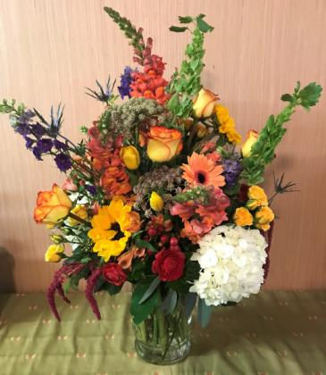 Justina's Salutations Clear Glass Vase