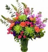 Kaleidoscope of Color Vase Arrangement