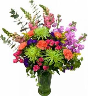 Kaleidoscope of Color Vase Arrangement in Seguin, TX | DIETZ FLOWER SHOP & TUXEDO RENTAL