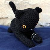 Kat the Black Cat Grandma's Crochet Plush