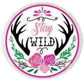 """Katydid- Stay Wild Beach Towel 62"""" X 62"""""""
