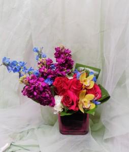 Kauai Bouquet Cube Arrangement