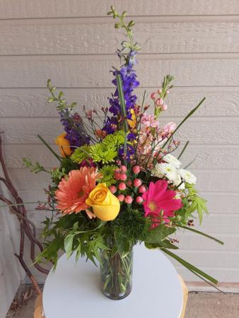 keep it in the wild flower side vase or in basket or ceramic