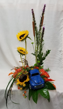 Keep on Trucking Contemporary Fresh Arrangement in Bolivar, MO | The Flower Patch & More