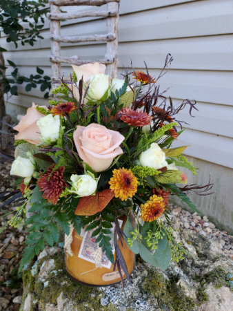 Keeper of the light fall Vase arrangement