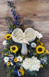 Keepsake Angel Wing Birdbath