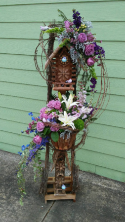 Keepsake Birdhouse Stand  in Pensacola, FL | JUST JUDY'S FLOWERS, LOCAL ART & GIFTS