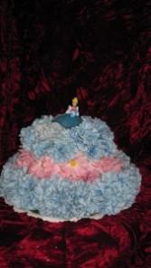keepsake cake w/princess topper