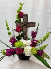 Keepsake Cross Sympathy arrangement