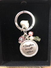 key chains daughter, mother, sister, grand daughter and friend