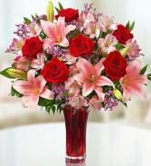 Key to My Heart vase arrangement