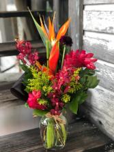 Key West Tropical Tropical Arrangement in Vase