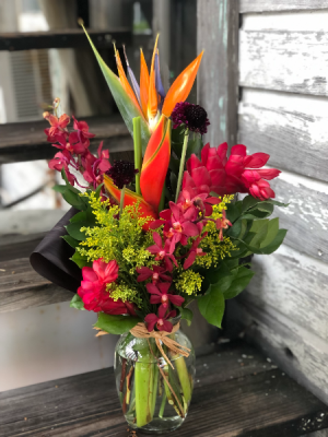 Key West Tropical Tropical Arrangement in Vase in Key West, FL | Petals & Vines
