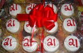 12 Cupcakes yellow cupcakes with vanilla buttercream icing with red 21 on them!! NEED 30 HOUR NOTICE FOR DELIVERY.