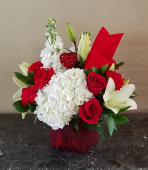 Kim's Ruby Red Exclusively at Mom & Pops in Ventura, CA   Mom And Pop Flower Shop