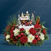 Kincade Christmas centepiece in Claremont, NH | FLORAL DESIGNS BY LINDA PERRON