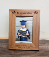 Kindergarten grad frame Engraved especially for you