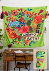 Kindness matters fleece blanket