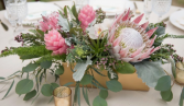 King Protea & Ginger Centrepiece  Reception Flowers
