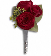 KING'S RED ROSE BOUTONNIERE PROM