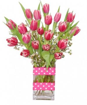 KISSABLE TULIPS Valentine's Day Bouquet in Selma, NC | SELMA FLOWER SHOP
