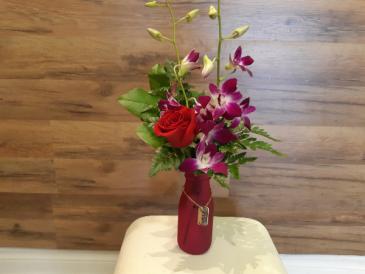 Kisses and hugs  vase arrangement