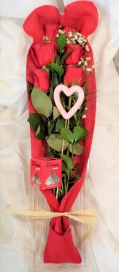 Kisses and Roses Valentine Arrangement