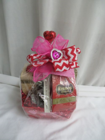 Kisses Basket Basket of Assorted Snacks and Goodies