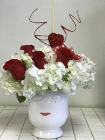 Kissy Face!!!  Keepsake Ceramic Vase !