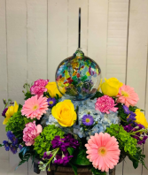 Kitras Tree Garden Fresh Floral Arrangement with Keepsake