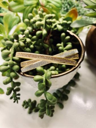 K&K Three Metallic Bangle Bracelets