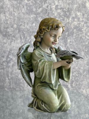 Kneeling Angel with Dove  in Jacksonville, IL | Barber Florist