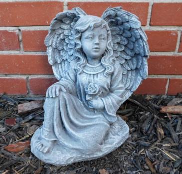 Kneeling Angel with Rose