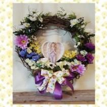 Kneeling Angel Wreath artificial flower