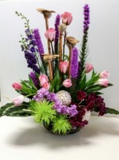 Knock Your Socks Off Purple Tropical Arrangement