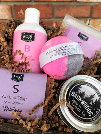 Kogi Naturals & Backwoods Soap and Candle Co. Gift Basket