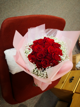 Korean wrap bouquet Red roses