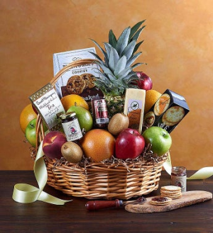 Kosher Deluxe Fruit & Gourmet Basket  in Brooklyn, NY | FLORAL FANTASY