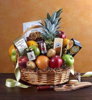 Kosher Deluxe Fruit & Gourmet Basket  in Brooklyn, NY | FLORAL FANTASY