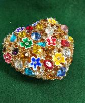 Kubla Craft Enameled Jeweled Heart Trinket Box