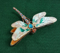Kubla Craft Jeweled Dragonfly Trinket Box