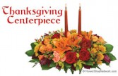 THANKSGIVING CENTERPIECE with seasonal flowers!