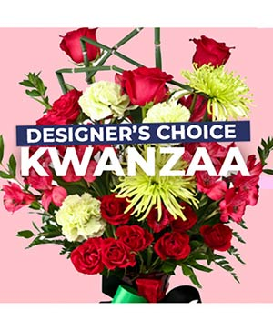 Kwanzaa Florals Designer's Choice in Beaumont, TX | A ROSE GALLERY AND BRIDAL SHOP/Melinda Potter