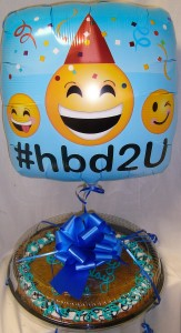 Giant Chocolate Chip Cookie that will INCLUDE A  Birthday Balloon!! You don't need to add it at check out. ( h.b. Balloon may vary) NEED 30 HOUR NOTICE FOR DELIVERY.