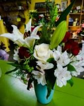 Holiday Lily Vase Arrangement