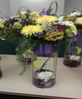 LA Lakers Vase Arrangement